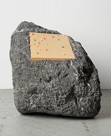 Paul Ramírez Jonas Publicar V (2010) Volcanic rock, cork, pushpins