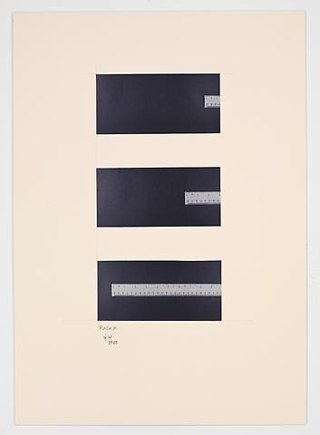 Ruler (1981) Photographs on paperboard 23.43h x 16.73w in (59.51h x 42.49w cm)