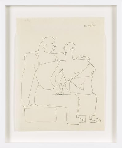 Untitled (1932) Graphite on paper 10.75h x 8.39w in (27.3h x 21.3w cm)