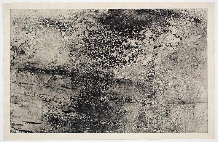 Dispersal #3 (1971) Dry pigment on paper 13h x 20w in (33.02h x 50.8w cm)