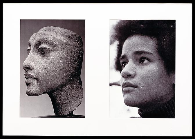 Miscegenated Family Album (Sisters III), L: Nefertiti's daughter, Maketaten; R: Devonia's daughter, Kimberley  (1980/1994) Cibachrome prints; Edition of 8 with 1 AP 26h x 37w in (66.04h x 93.98w cm)