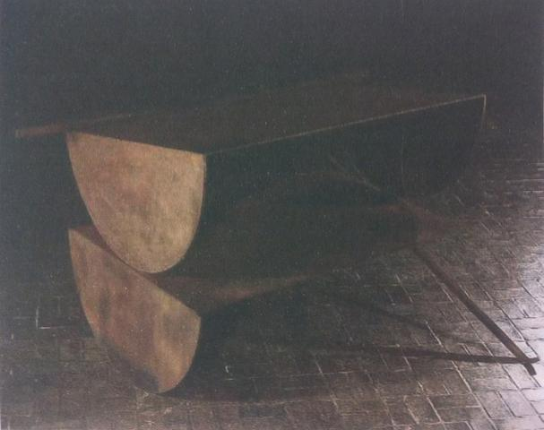 Good Friends in Chicago (1972) Welded steel 43h x 77.3w x 64.5d in (109.2h x 196.3w x 163.8d cm)