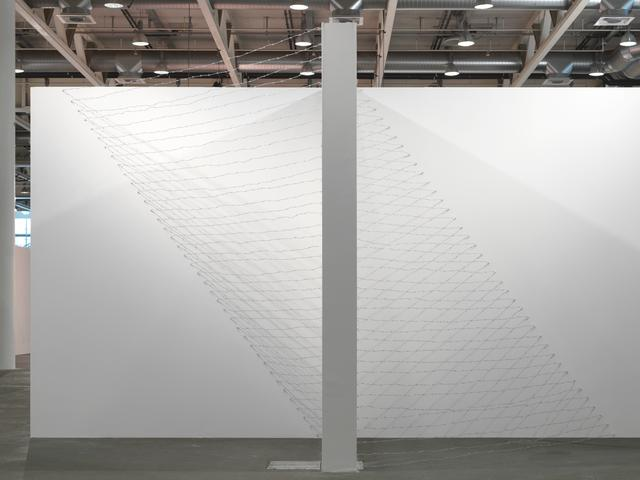 Art 43 Basel, Art Unlimited 2012 Pyramid Up and Down Pyramid (1969/2012) Barbed wire, dimensions variable