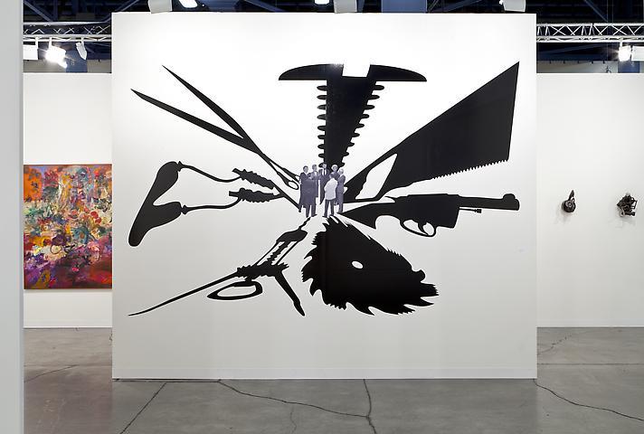 Regina Silveira, Encuentro (1991/2002) Art Basel Miami Beach 2012; installation view