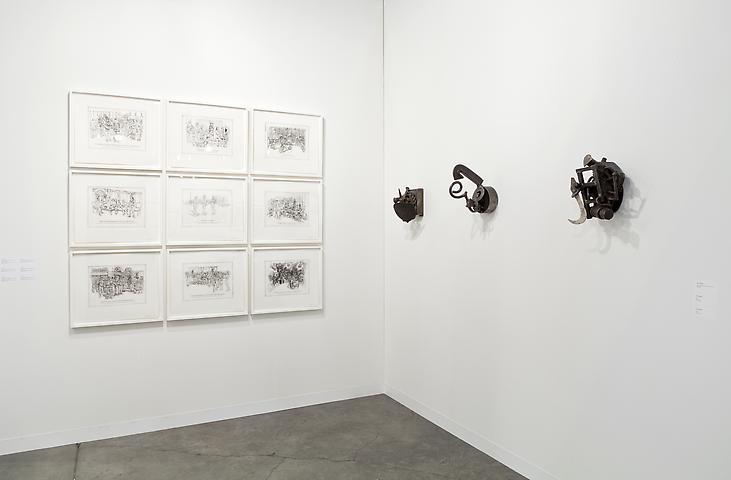 Coco Fusco (left); Melvin Edwards (right) Alexander Gray Associates Art Basel Miami Beach 2012; installation view