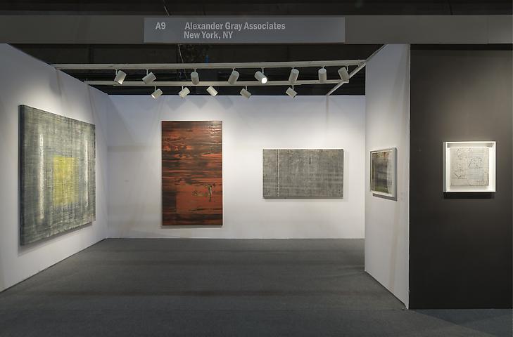 Jack Whitten  ADAA Art Show 2014 Installation view