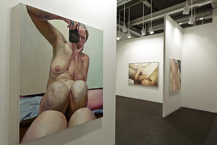 Foreground: Knees Together (2003) Art Basel 2013 Installation view