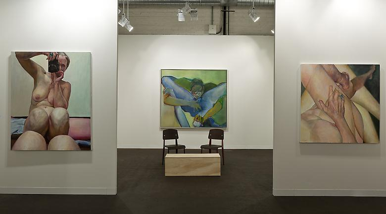 Left: Knees Together (2003); Center: Untitled (1971); Right: Crossed Legs (2011) Art Basel 2013 Installation view