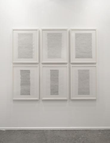 Hassan Sharif, Horizontal Lines (2012)  Art Dubai 2013 Installation view
