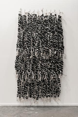 Hassan Sharif, Weave 1 (2013) Rubber and cotton rope Dimensions variable