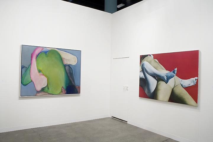 Green Heart (1971); Red White and Blue (1973) Art Basel Miami Beach 2011 Installation view