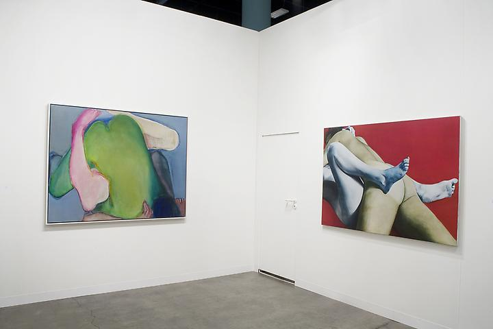 Joan Semmel: Green Heart (1971); Red White and Blue (1973) Art Basel Miami Beach 2011 Installation view
