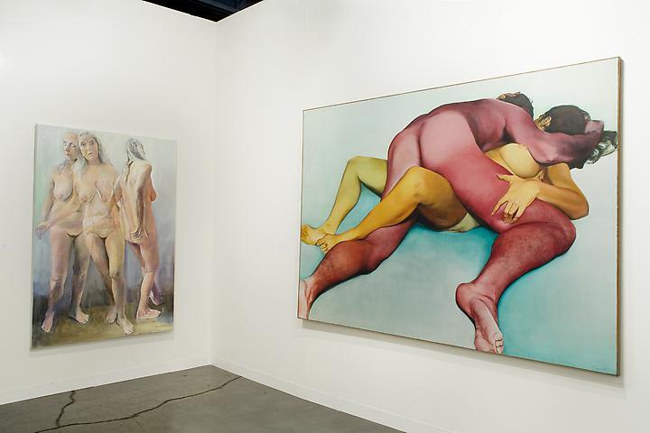 Joan Semmel: The Unchosen (2011); Hold (1972) Art Basel Miami Beach 2011 Installation view