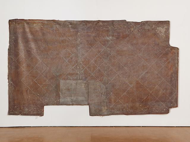Obermühle (tile floor) (c. 1980s) Latex on textile 102.4h x 181.1w in (260.1h x 460w cm)