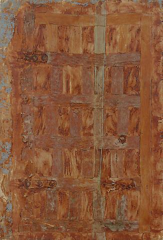 Puerta cuartel interior (1987) Latex on textile; 84.6h x 57.1w in (214.9h x 145w cm)