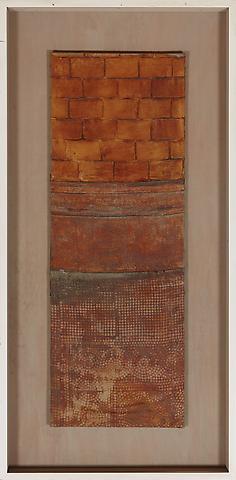 Villa Bleuler (c. 1991) Latex on textile 53.1h x 18.9w in (134.9h x 48w cm)