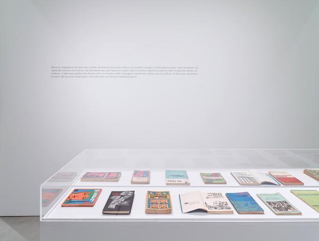 Coco Fusco, C O N F I D E N C I A L, AUTORES FIRMANTES (2015) Installation view, Alexander Gray Associates (2016)