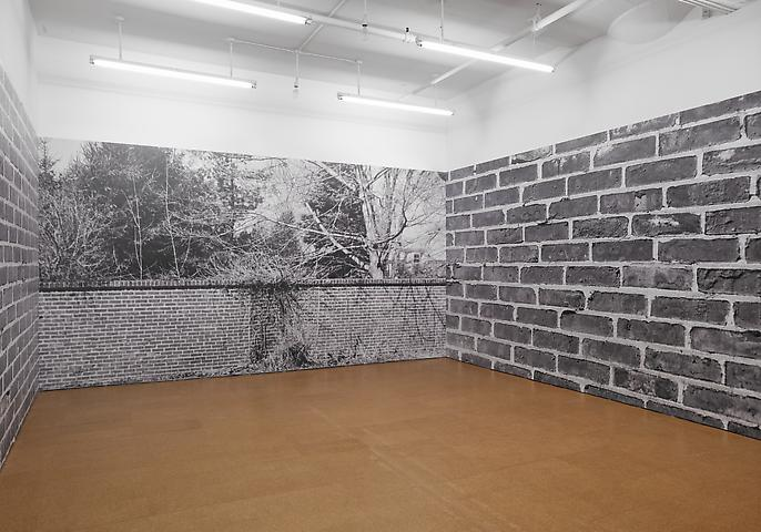 Bricks (1974/2012) Digital photo mural; Dimensions variable; Edition of 3 with 1 AP Installation view, Alexander Gray Associates (2012)