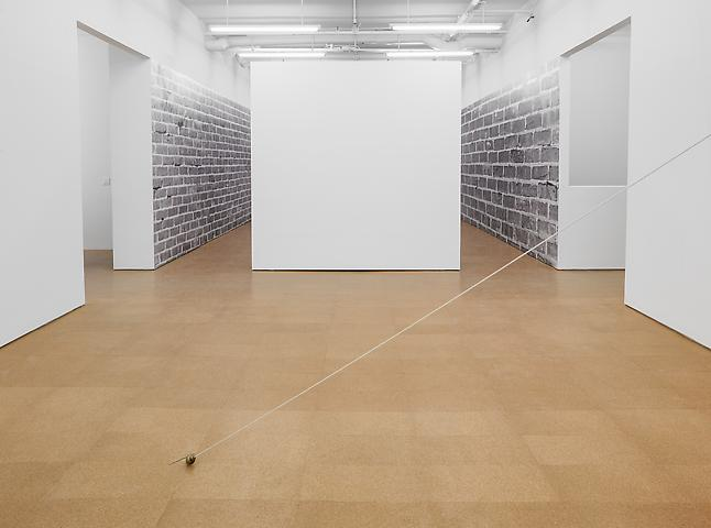 Foreground: The Shift of the Center of the Earth (1975); Background: Bricks (1974/2012) Installation view, Alexander Gray Associates (2012)