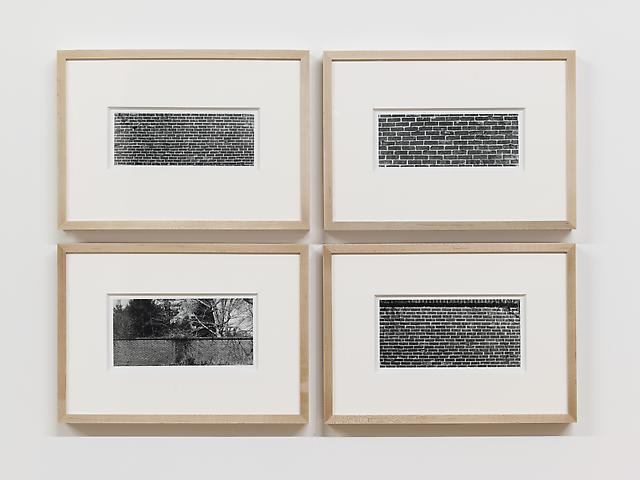 Bricks (1974/2012) Fiber prints in 4 parts; 12.75h x 10w in (32.39h x 45.42w cm) each Edition of 8 with 1 AP