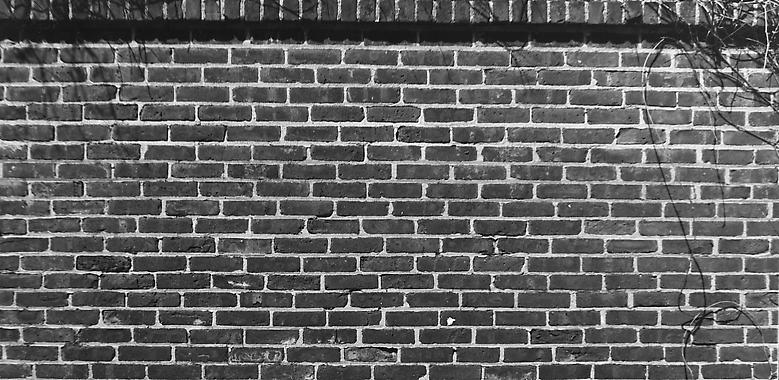 Bricks (1974/2012) Fiber print; Part 3 of 4; 4.75h x 10w in (12.07h x 25.4w cm) Edition of 8 with 1 AP