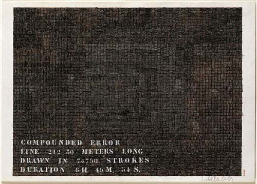 Compounded Error (1972) Ink on paper