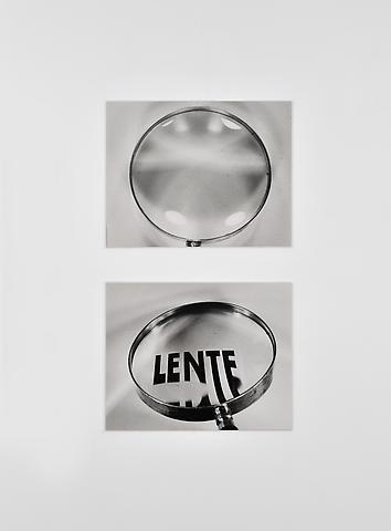 Lente (1969–73) Silver gelatin photograph  8h x 10w in (20.3h x 25.4w cm)
