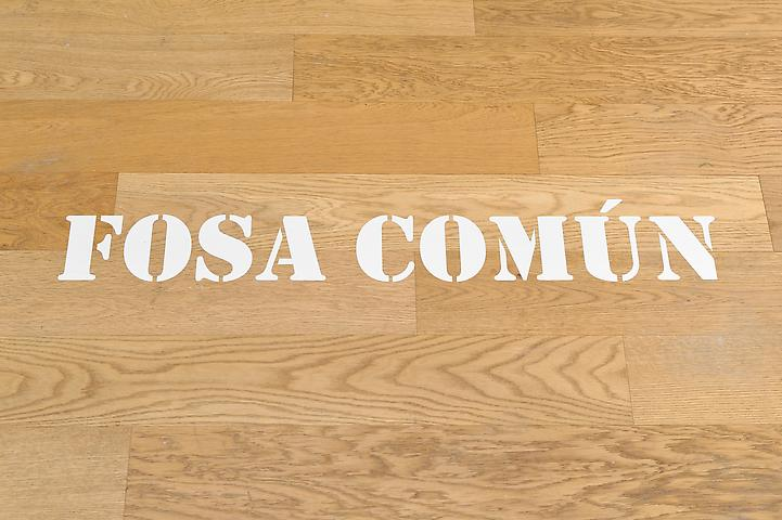 Fosa Comun (1969) Stencil on painted surface
