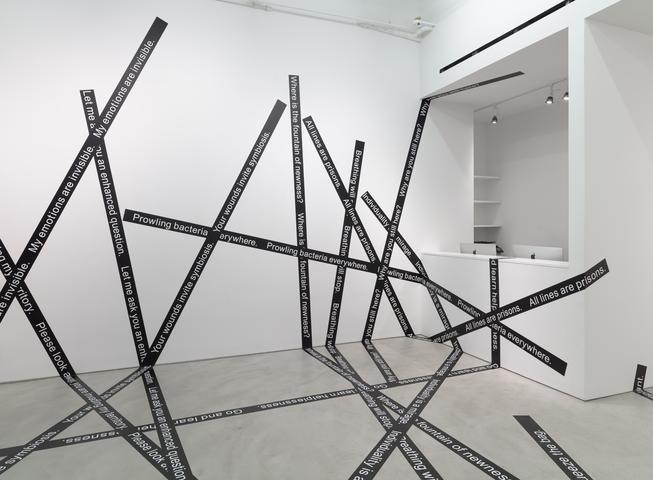 Please look away (2015) Adhesive vinyl Installation view, Alexander Gray Associates (2014)