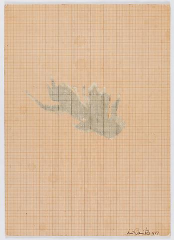 Restoration (1972) Pencil on graph paper 14.13h x 10.25w in (35.89h x 26.04w cm)
