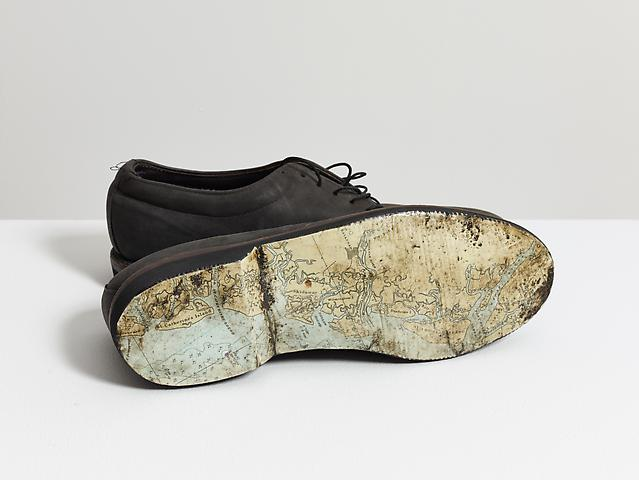 Luis Camnitzer Shoes, 1998-1999 Mixed media; 4.13h x 11.5w x 8d in