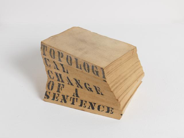 Topological Change of a Sentence, 1966 Mixed media 3.63 x 7.38 x 5.88 in (9.22h x 18.75w x 14.94d cm)