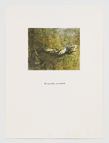 He Recoiled, Unmarked (1983-84) Photo etching in 35 parts; 29.53h x 21.65w in (75.01h x 54.99w cm) Edition of 15 with 1 AP