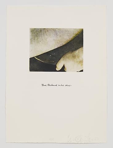 Time Thickened in His Veins (1983-84) Photo etching in 35 parts; 29.53h x 21.65w in (75.01h x 54.99w cm) Edition of 15 with 1 AP