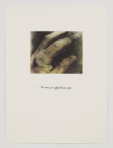The Vacancy Was Effectively Concealed (1983-84) Photo etching in 35 parts; 29.53h x 21.65w in (75.01h x 54.99w cm) Edition of 15 with 1 AP