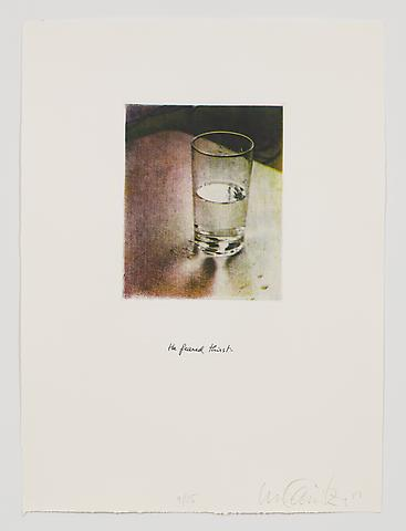 He Feared Thirst (1983-84) Photo etching in 35 parts; 29.53h x 21.65w in (75.01h x 54.99w cm) Edition of 15 with 1 AP