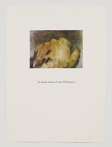 The Touch Reclaimed Spent Tenderness (1983-84) Photo etching in 35 parts; 29.53h x 21.65w in (75.01h x 54.99w cm) Edition of 15 with 1 AP
