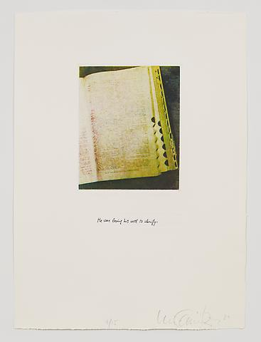 He Was Losing His Will to Clarify (1983-84) Photo etching in 35 parts; 29.53h x 21.65w in (75.01h x 54.99w cm) Edition of 15 with 1 AP