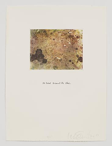 He Tried to Count the Stars (1983-84) Photo etching in 35 parts; 29.53h x 21.65w in (75.01h x 54.99w cm) Edition of 15 with 1 AP