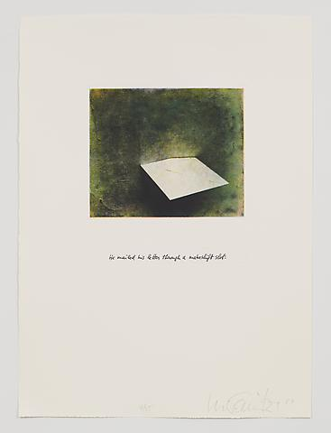 He Mailed His Letter Through a Makeshift Slot (1983-84) Photo etching in 35 parts; 29.53h x 21.65w in (75.01h x 54.99w cm) Edition of 15 with 1 AP