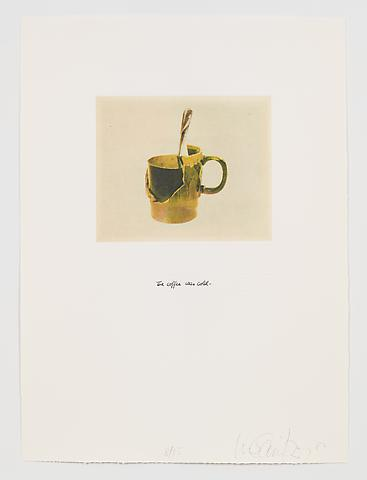 The Coffee Was Cold (1983-84) Photo etching in 35 parts; 29.53h x 21.65w in (75.01h x 54.99w cm) Edition of 15 with 1 AP