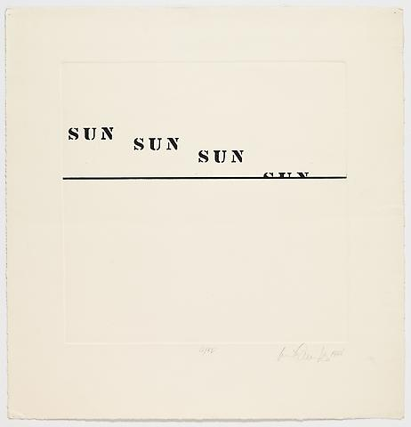 Luis Camnitzer; Untitled (1968) Etching on paper; 26h x 25w in (66.04h x 63.5w cm) Intended edition of 50, Executed edition of 10 with 2 AP