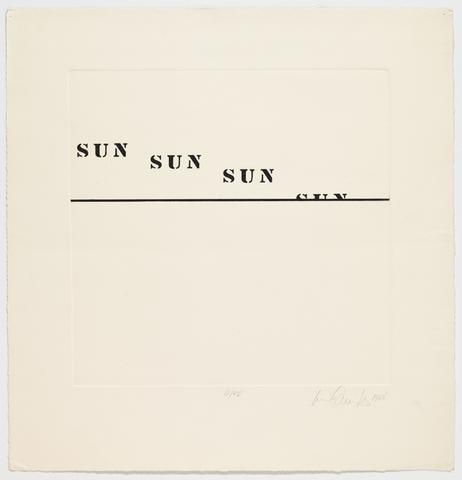 Untitled, 1968 Etching on paper 26h x 25w in (66.04h x 63.5w cm) Known edition of 4 with 2 AP (Ed. 3/4; marked 4/50)