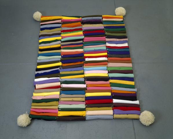 The Carpet of Color (1990) Felt, safety pins, yarn 48h x 48w x 3.5d in (121.9h x 121.9w x 8.9d cm)