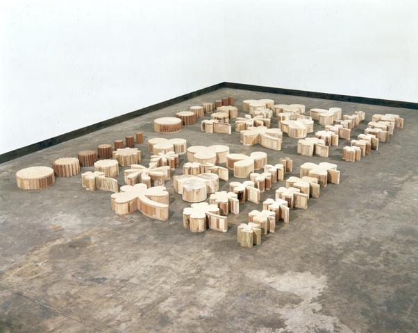 Daisy Chain (1989) Wood 107h x 72w x 5d in (271.8h x 182.9w x 12.7d cm)