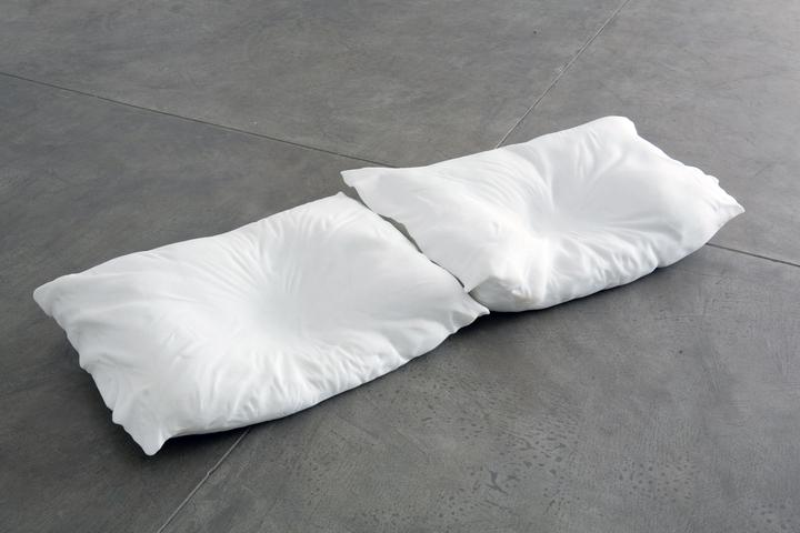 Duet I (from After) (2007) Marble Pillow 1: 7.5h x 25w x 17.5d in (19.1h x 63.5w x 44.5d cm) Pillow 2: 7.5h x 23w x 20d in (19.1h x 58.5w x 50.8d cm)