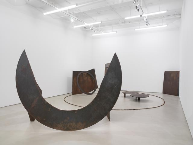Homage to the Poet Leon Gontran Damas (1978-81)<br>Welded steel; in five parts<br>Dimensions variable