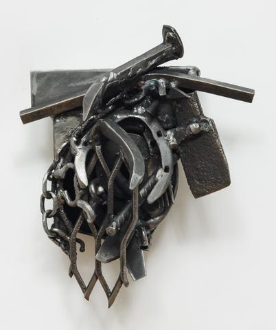 Melvin Edwards Addis A., 2007 Welded steel, 13h x 10.3w x 7.5d in (33.02h x 26.16w x 19.05d cm)