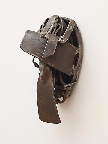 "Bara Niasse Tugge (2008) From the series Lynch Fragments Welded steel 14.5"" x 6.5"" x 6.75"""