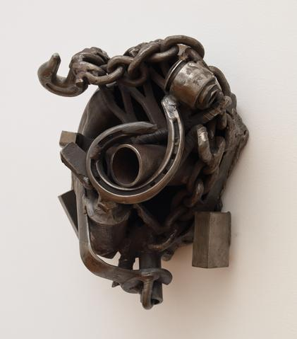 Because of Struggle (1992) Welded steel 15h x 15.5w x 15d in (38.1h x 39.4w x 38.1d cm)